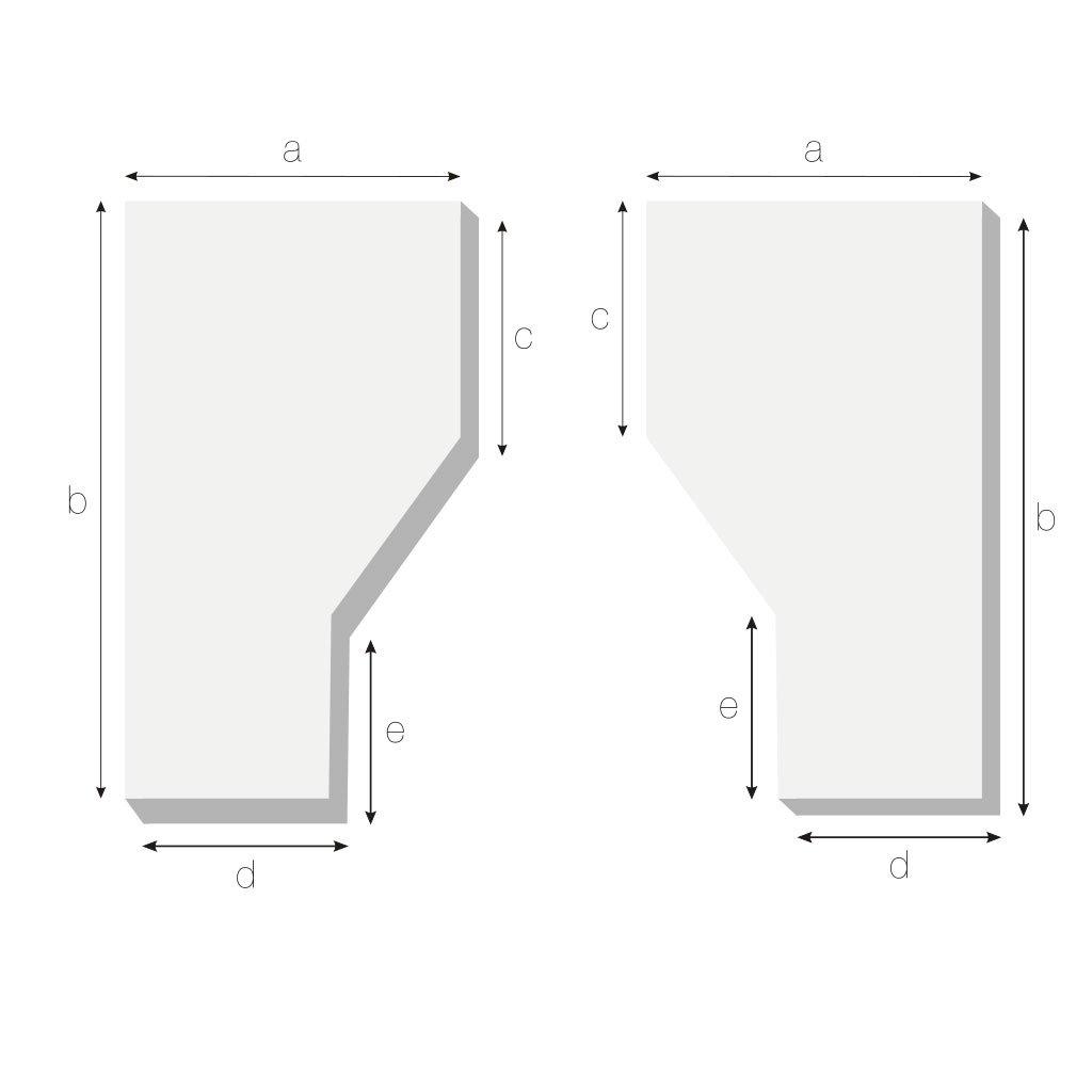 Matratze mit einer Schräge recht oder links